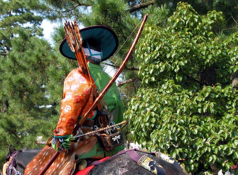 El Samurai Pasado?:) Imagen de archivo libre de regalías