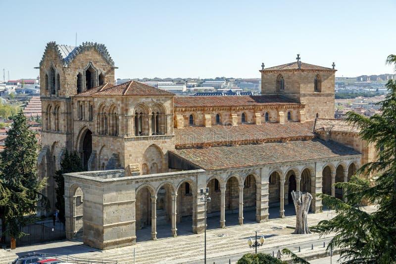 El San Vicente Basilica en Ávila, España foto de archivo libre de regalías