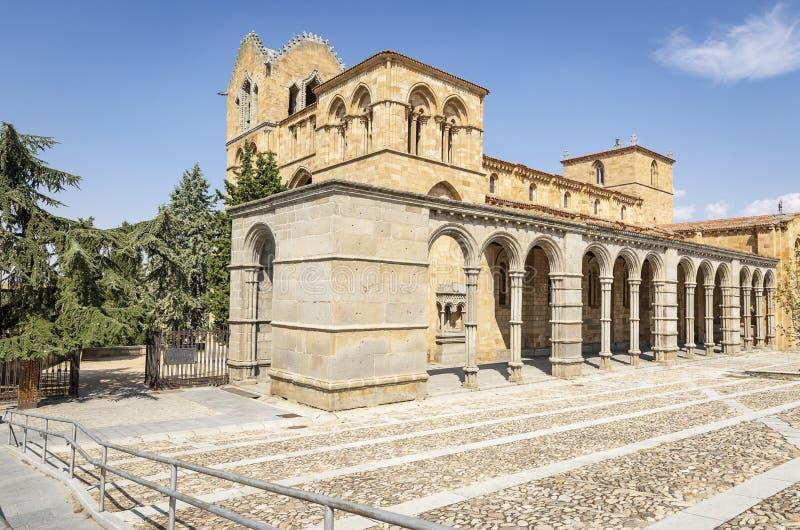 El San Vicente Basilica en la ciudad de Ávila imagen de archivo libre de regalías