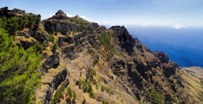El Santo, La Gomera, Canary, Spain. The viewpoint of El Santo, La Gomera, Canary, Spain royalty free stock photo