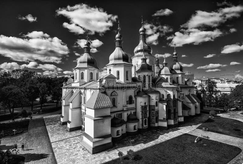 El santo Sophia Cathedral en Kiev es un monumento arquitectónico excepcional de Kievan Rus Inscrito en la lista del patrimonio mu fotografía de archivo