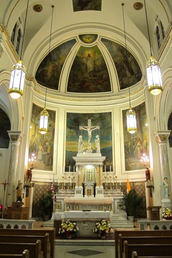 El santos alteran a lo más la iglesia preciosa de la sangre, New York City imagen de archivo