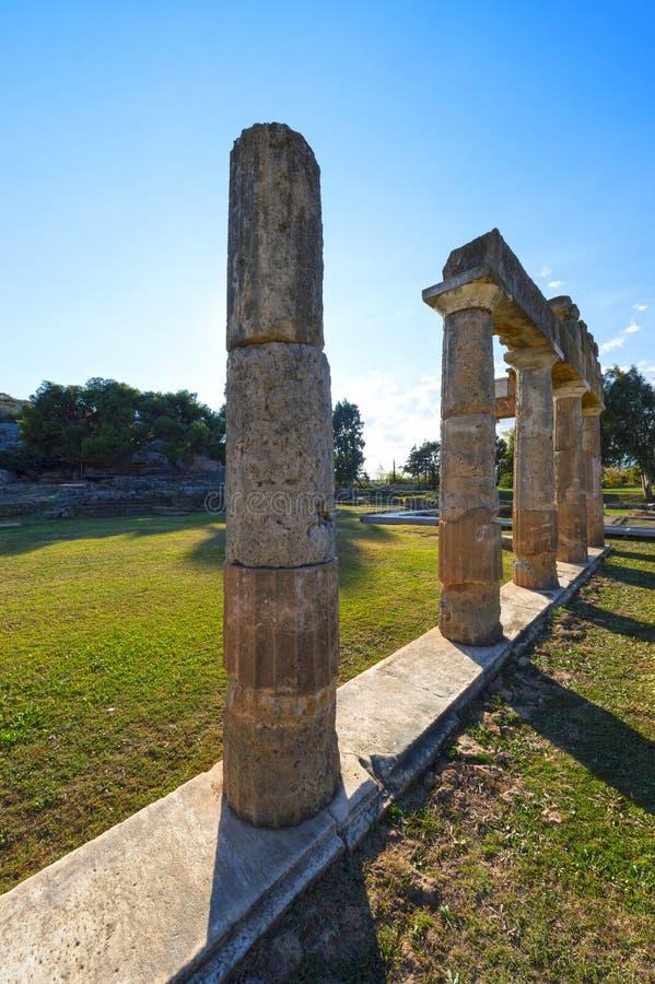 El santuario de Artemis en Brauron, Atica - Grecia imagen de archivo