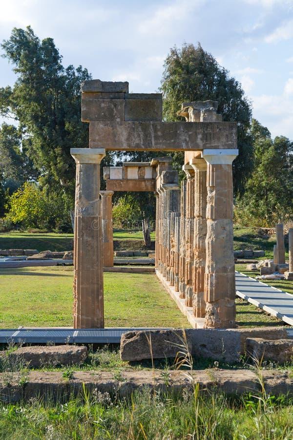 El santuario de Artemis en Brauron, Atica - Grecia imagen de archivo libre de regalías