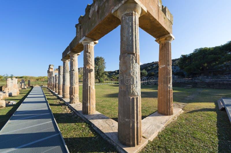 El santuario de Artemis en Brauron, Atica - Grecia imagenes de archivo