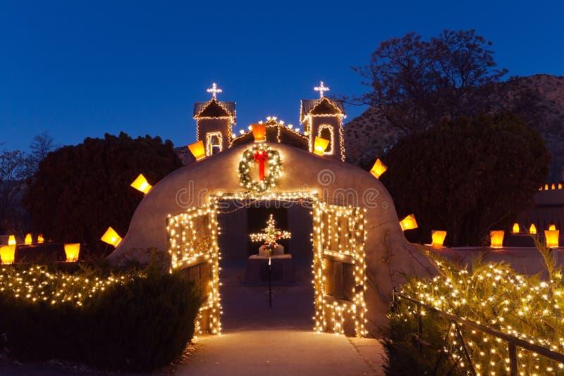 El Santuario de Chimayo Кристмас стоковое фото