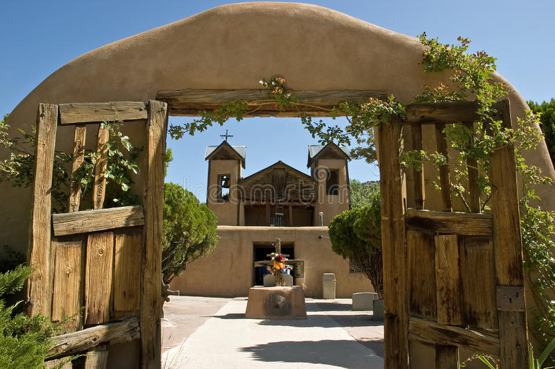 El Santuario de Chimayo stock photos