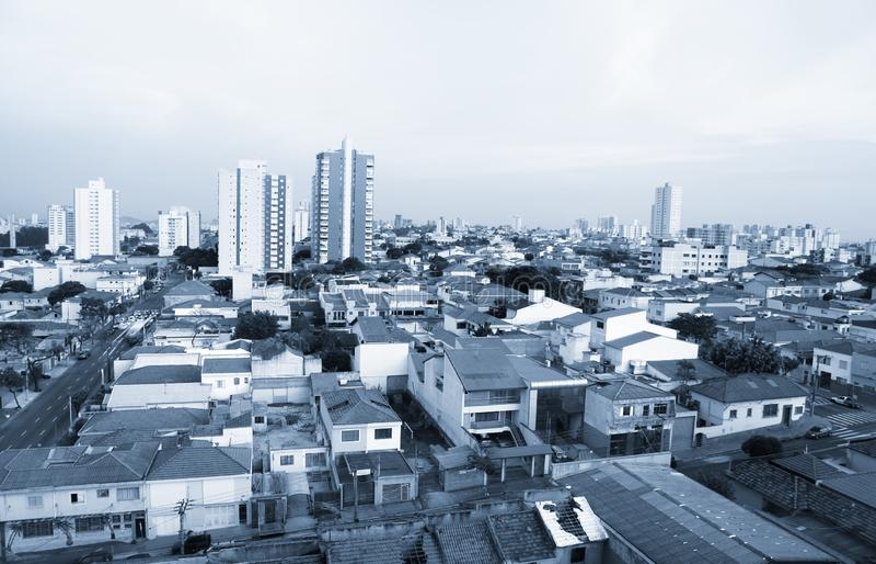 El sao Caetano hace la ciudad del sul en el Brasil imagen de archivo libre de regalías