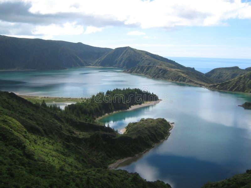 El sao Migel Lagoa de Azores hace Fogo foto de archivo libre de regalías