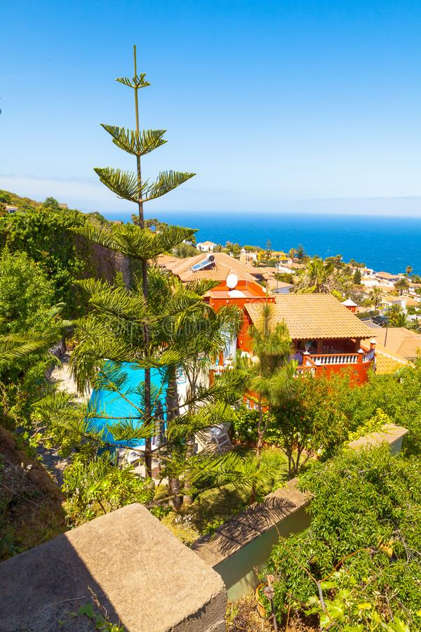 El Sauzal Los Narajos Tenerife z słońca widok na ocean obraz royalty free
