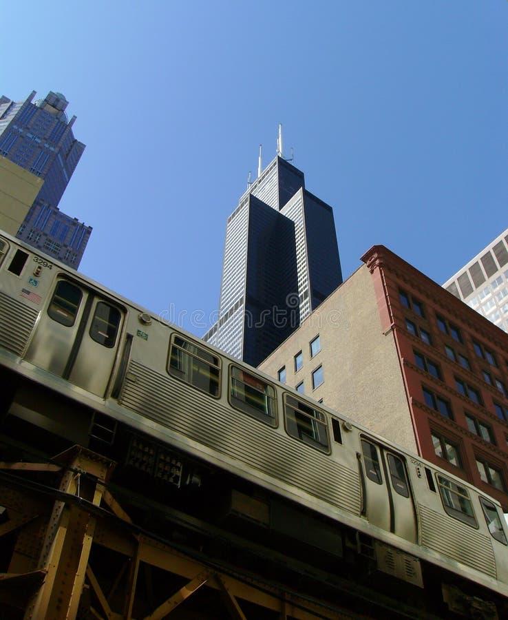 EL-Schiene in Chicago stockfotos