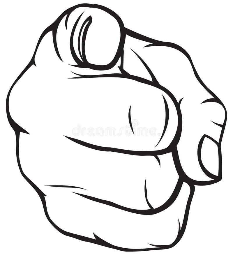 El señalar de la mano ilustración del vector