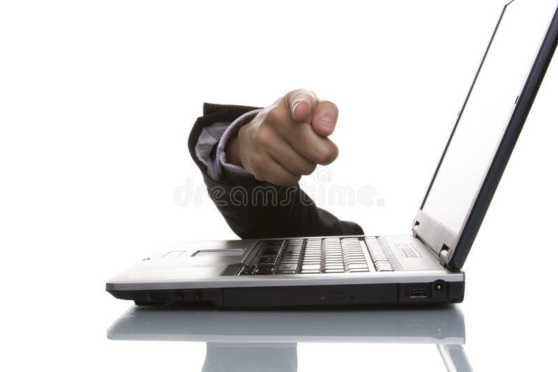 El señalar de la mano del hombre de negocios imagenes de archivo