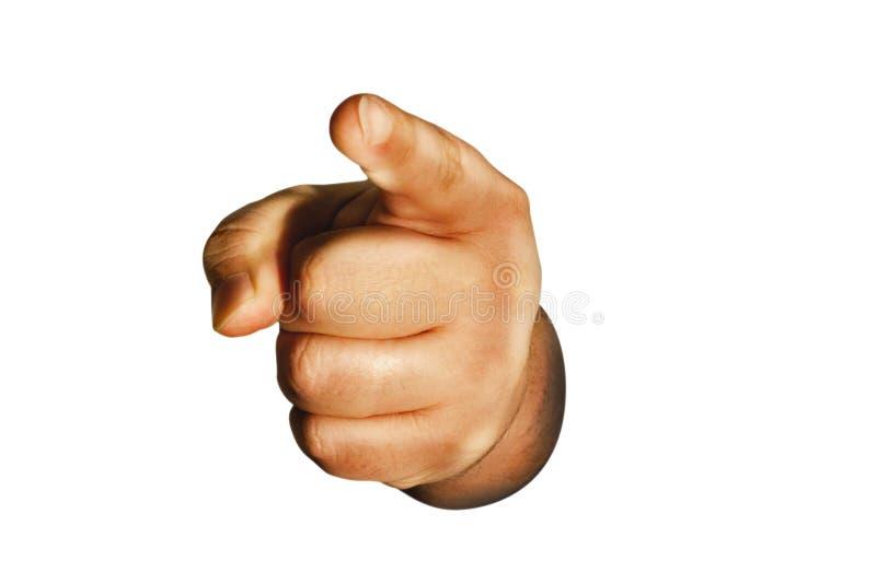 El señalar del dedo foto de archivo