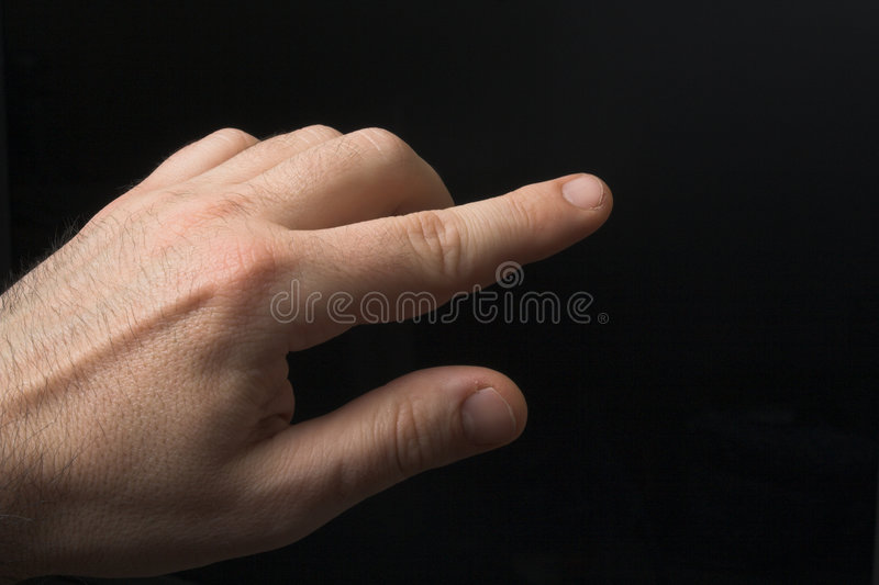 El señalar del dedo imágenes de archivo libres de regalías