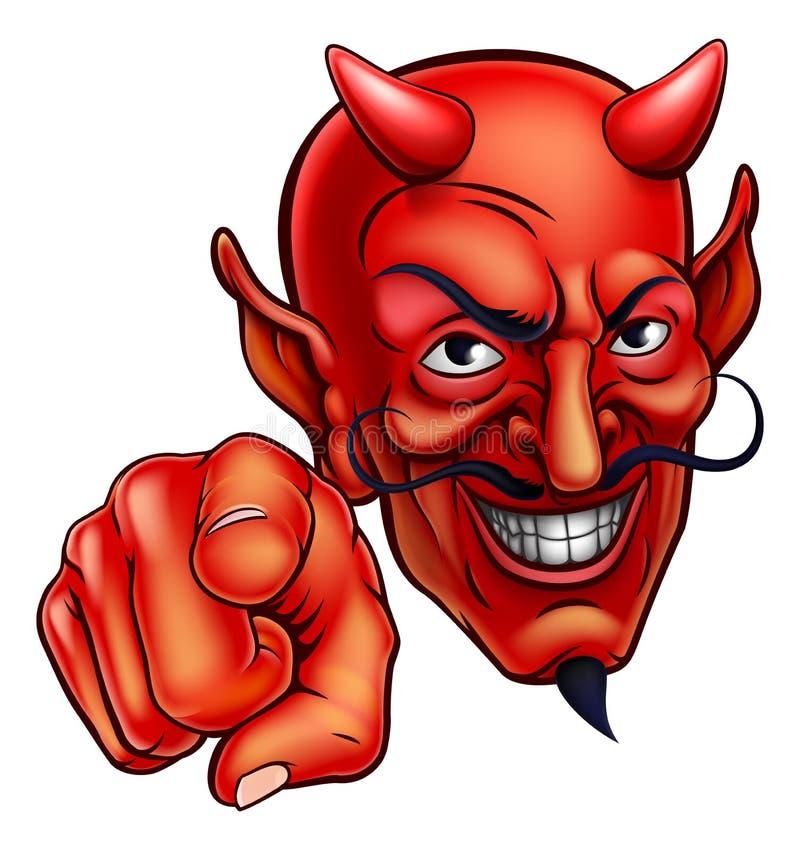 El señalar del diablo stock de ilustración
