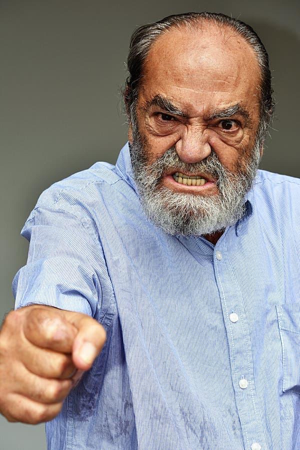 El señalar del varón del Latino imagen de archivo libre de regalías