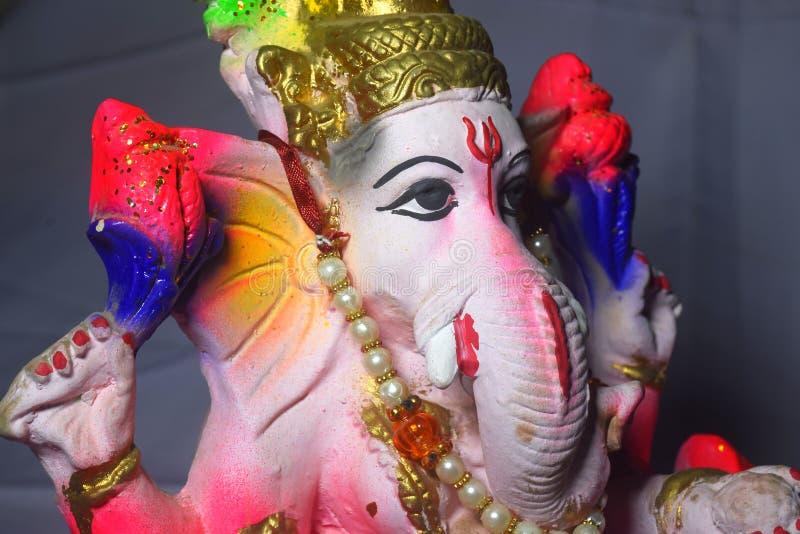 El señor de ganesha. Dios hindú Ganesha. Idol coleroso de Ganesha. Cultura india. chaturthi ganesh imagen de archivo libre de regalías