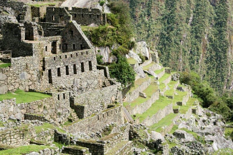 El sector residencial de la ciudad de Machu Picchu fotografía de archivo libre de regalías