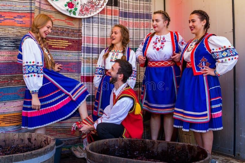 El segundo festival étnico Bobovischenske Grono fue llevado a cabo en Zaka imagen de archivo libre de regalías