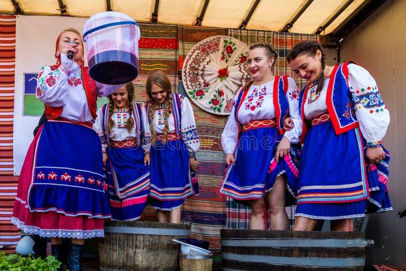 El segundo festival étnico Bobovischenske Grono fue llevado a cabo en Zaka fotos de archivo libres de regalías