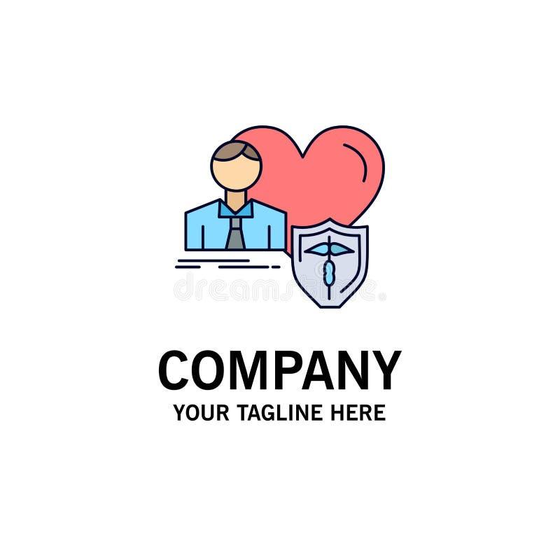 el seguro, familia, hogar, protege, vector plano del icono del color del corazón libre illustration