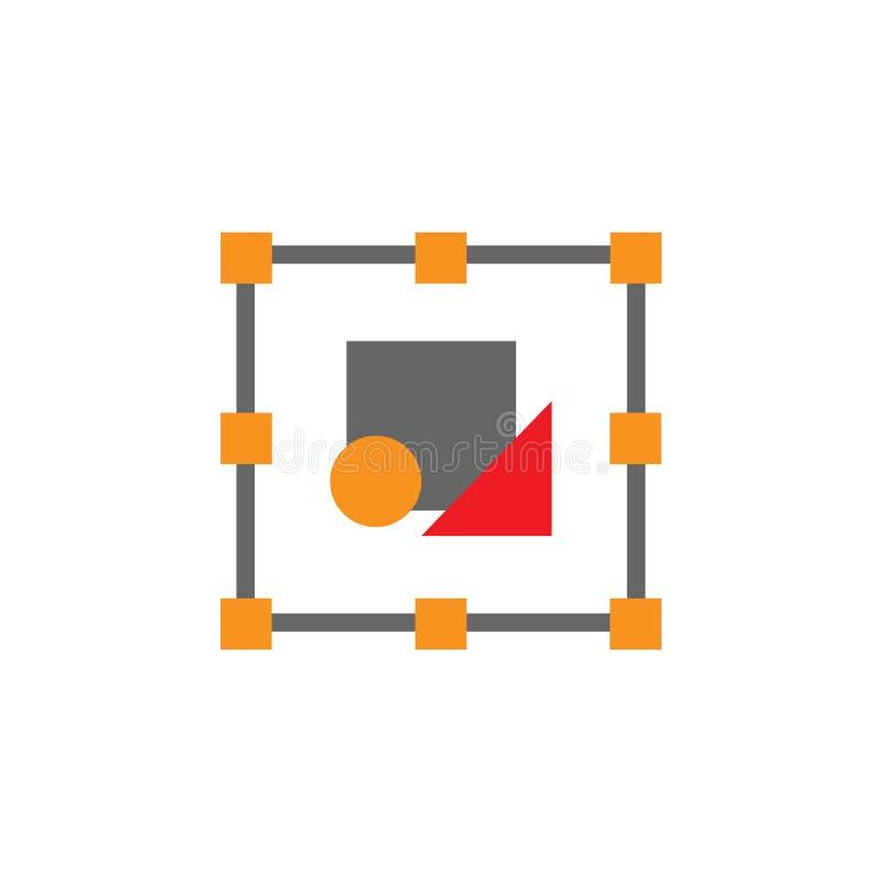 El selector, corrige el icono de las herramientas Elemento del icono de Desing de la web para los apps móviles del concepto y de  stock de ilustración