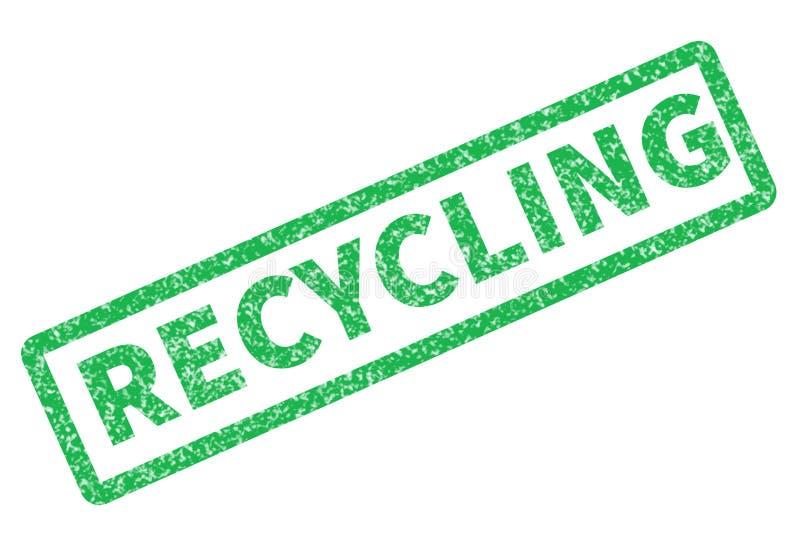El sello de goma del Grunge con el texto tiene reciclaje en el fondo blanco libre illustration
