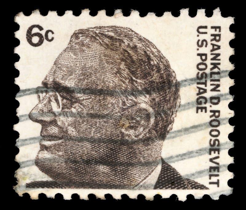El sello imprimió en Estados Unidos, imagen del retrato Franklin Roosevelt fotos de archivo libres de regalías