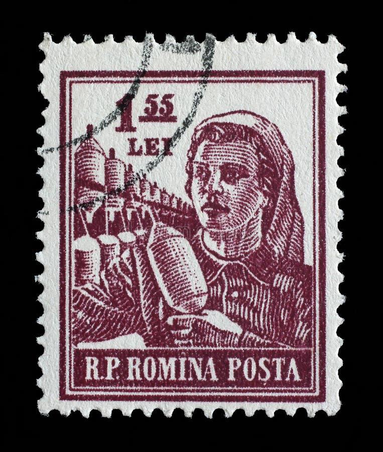 El sello imprimió en Rumania de las profesiones de la serie foto de archivo libre de regalías