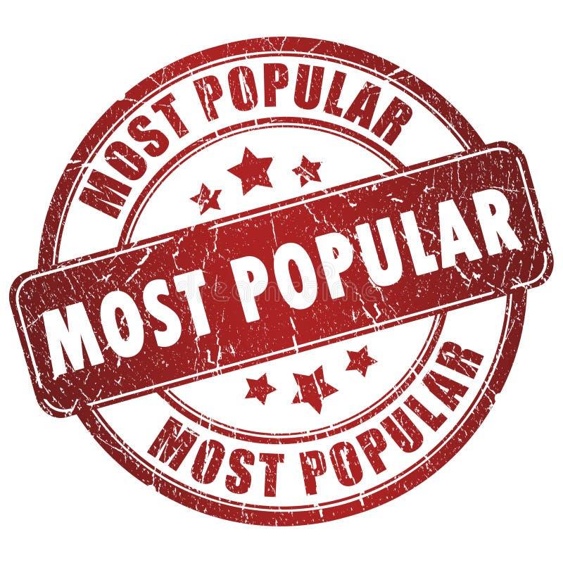 El sello más popular libre illustration