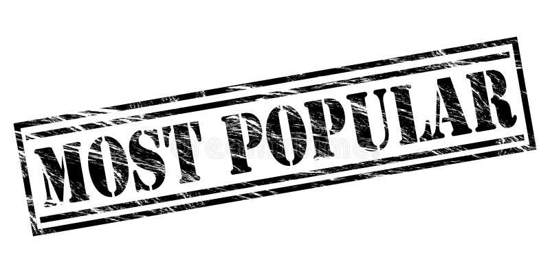 El sello negro más popular stock de ilustración
