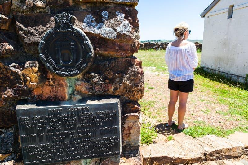 El selwyn del fuerte del monumento de 1820 colonos imagen de archivo