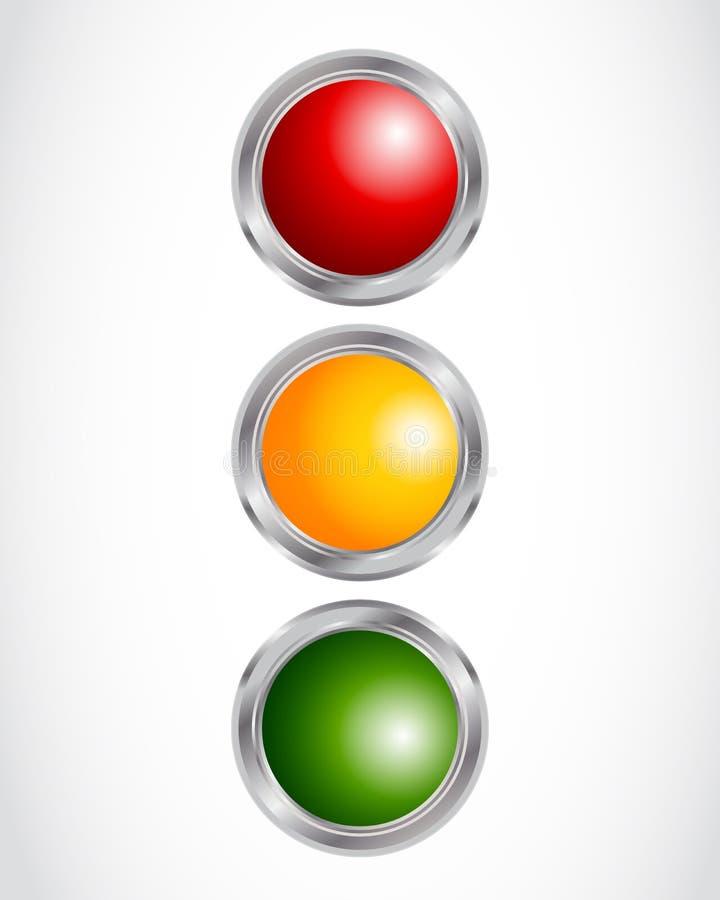 El semáforo abotona concepto ilustración del vector