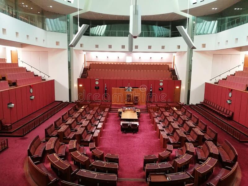 El senado @ Canberra, Australia imagen de archivo libre de regalías