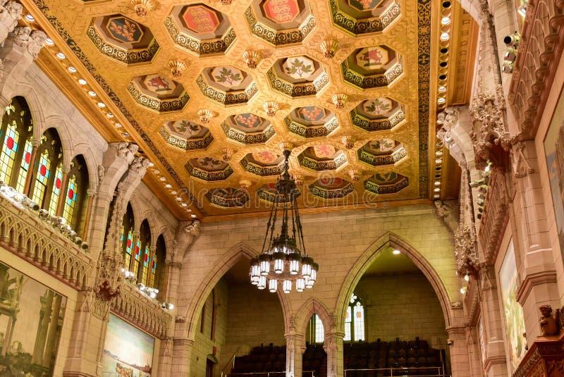 El senado del edificio del parlamento - Ottawa, Canadá fotos de archivo