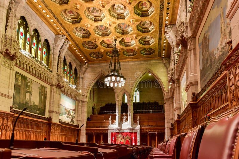 El senado del edificio del parlamento - Ottawa, Canadá imágenes de archivo libres de regalías