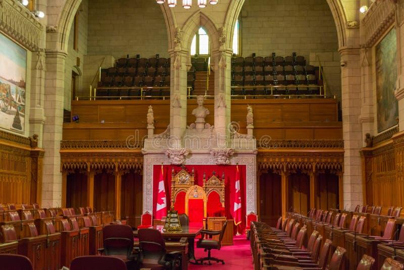 El senado del edificio del parlamento, Ottawa, Canadá fotos de archivo libres de regalías