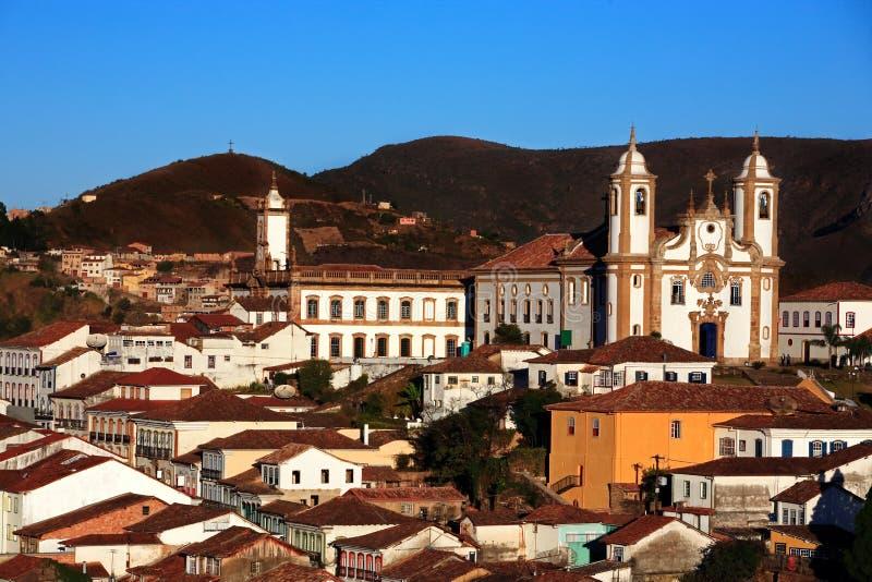 El senhora de De nossa hace la iglesia Ouro Preto el Brasil de Carmen fotografía de archivo
