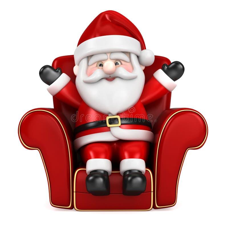 El sentarse colgante de Papá Noel en un sofá ilustración del vector