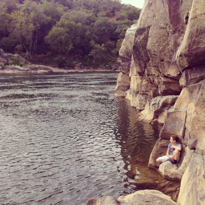 El sentarse del Potomac imagen de archivo libre de regalías