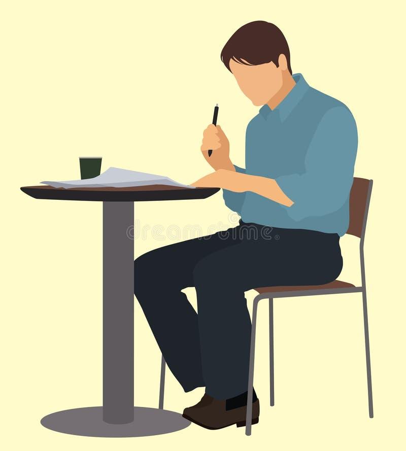 El sentarse en la tabla libre illustration