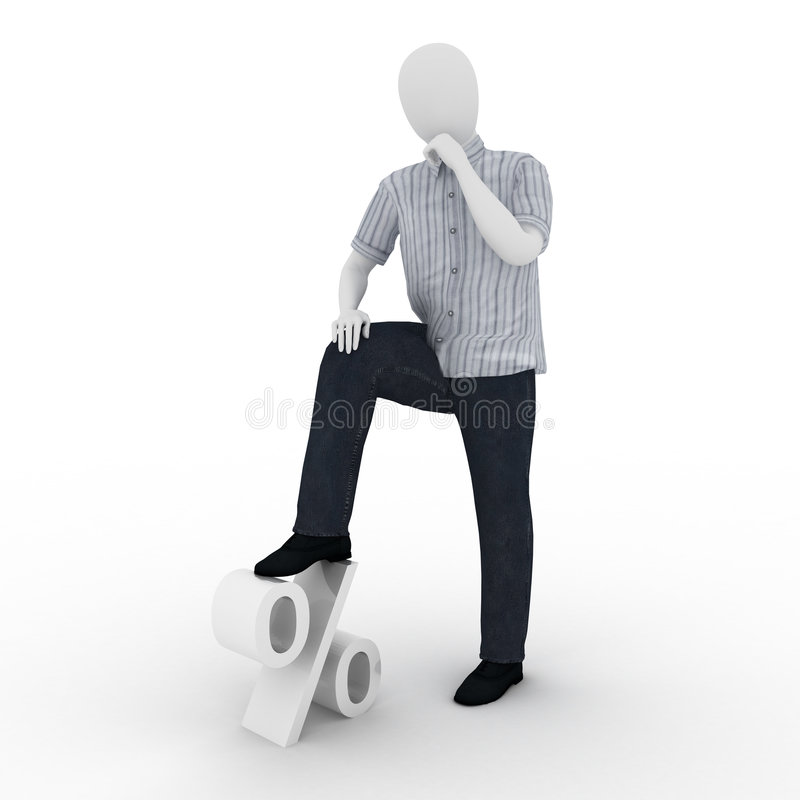 El ser humano lleva a cabo un pie en el por ciento libre illustration