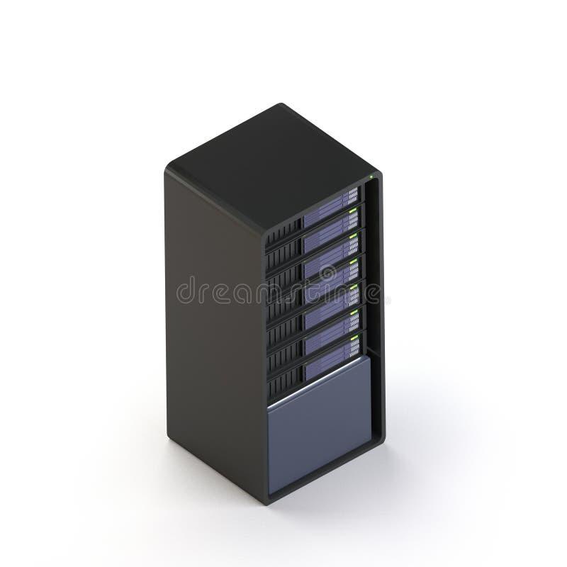 el servidor 3d hace isométrico libre illustration