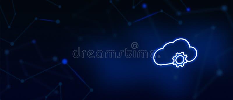 El servidor de la nube, sincronización de la nube, servicios de la nube, tecnología de Digitaces, nos entra en contacto con, ater imagen de archivo libre de regalías