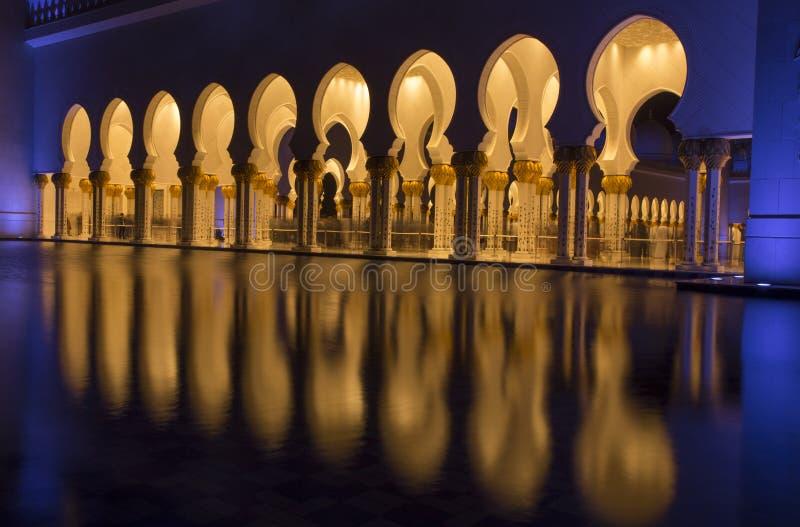 El Sheikh Zayed meczet fotografia royalty free