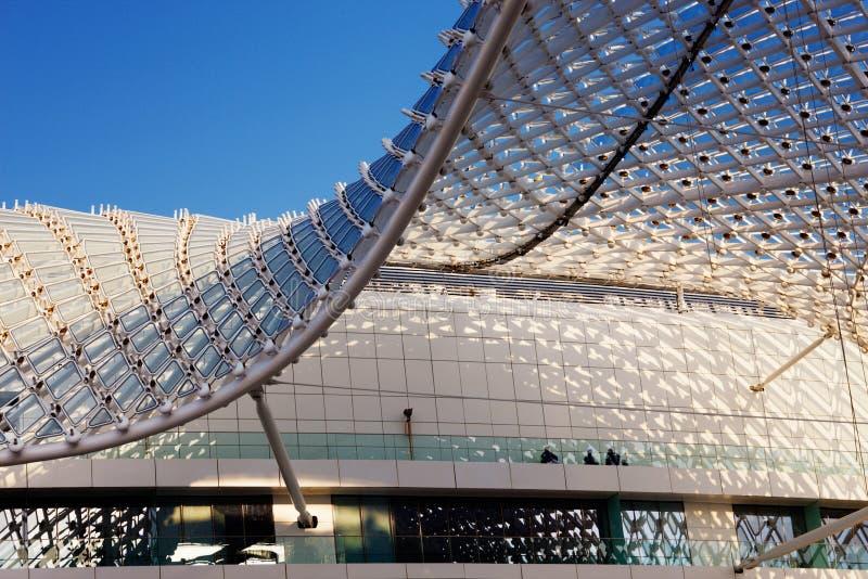 El shell de la red del hotel de Yas fotos de archivo