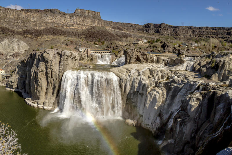 El Shoshone cae en Twin Falls Idaho imagenes de archivo
