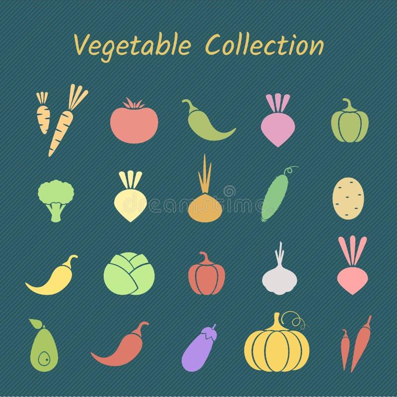 El silhoette del color en colores pastel aisló el sistema vegetal del icono stock de ilustración