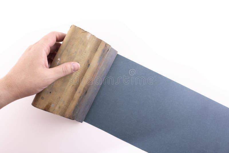 El silkscreening azul imagen de archivo libre de regalías